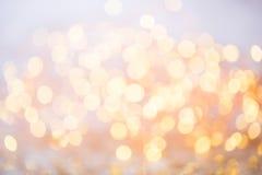 Abstraktes Goldbokeh Weihnachts- und des neuen Jahresthemahintergrund Lizenzfreies Stockfoto