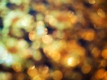 Abstraktes goldenes bokeh Licht Lizenzfreie Stockfotografie