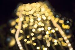 Abstraktes goldenes bokeh undeutliche Beleuchtung Lizenzfreies Stockbild