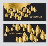 Abstraktes goldenes Tropfenmuster Lizenzfreie Stockbilder
