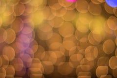 Abstraktes goldenes und gelbes Kreis bokeh Lizenzfreie Stockfotos