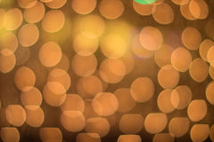 Abstraktes goldenes und gelbes Kreis bokeh Stockfotos