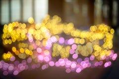 Abstraktes goldenes und rosa bokeh Stockfoto