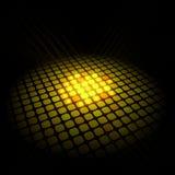 Abstraktes Goldmuster auf schwarzem Hintergrund Stockfoto