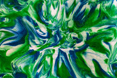 Abstraktes Grün, Blau und Weiß verdrehten gewirbeltes und unscharfes Desig Stockfotografie
