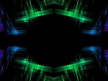 Abstraktes grün-blaues stock abbildung
