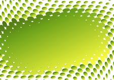 Abstraktes grün-gelbes Feld (Vektor) stock abbildung