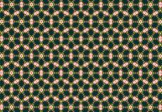 Abstraktes grünes Blumenmuster Stockbild