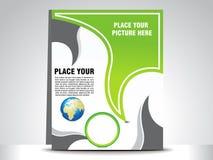 Abstraktes grünes flayer Lizenzfreies Stockfoto