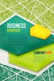 Abstraktes grünes Plakat mit Dreieckhintergrund Lizenzfreies Stockfoto