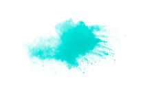 Abstraktes grünes Pulver Lizenzfreies Stockfoto