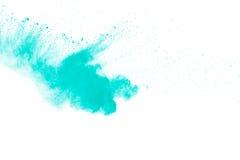Abstraktes grünes Pulver Stockbilder