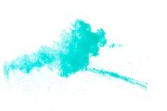 Abstraktes grünes Pulver Lizenzfreie Stockfotos