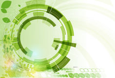 Abstraktes grünes Punkthexagonökologiegeschäfts- und -technologie-BAC Lizenzfreie Stockbilder