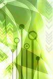 Abstraktes grünes techno   Lizenzfreie Stockbilder