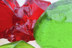 Abstraktes grünes und rotes jello Lizenzfreie Stockbilder