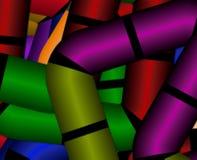 Abstraktes grünes Veilchen unscharfer Steigungshintergrund von Elementen von geometrischen Formen von Quadraten mit geschnittenen vektor abbildung