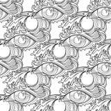 Abstraktes grafisches Auge lizenzfreie abbildung