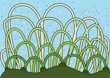 Abstraktes Gras mit Konfettis Stockfoto