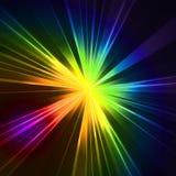 Abstraktes grelles Sternlicht Buntes Explodieren Stockfotografie