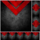 Abstraktes grunge aufbereitetes Papierfertigkeit-Mosaik backgr Lizenzfreie Stockfotografie