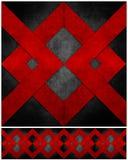 Abstraktes grunge aufbereitetes Papierfertigkeit-Mosaik backgr Stockfotos