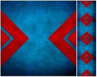Abstraktes grunge aufbereitetes Papierfertigkeitmosaik   Lizenzfreie Stockfotografie