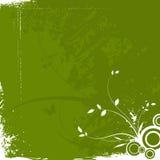 Abstraktes grunge Blumenhintergrund stock abbildung