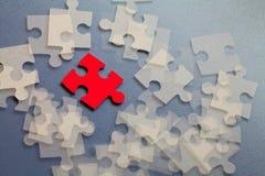 Abstraktes Gruppenpuzzlespiel lizenzfreie stockbilder
