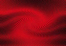 Abstraktes Halbton punktiert Hintergrund in den roten Farben Lizenzfreie Stockbilder