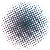 Abstraktes Halbtongestaltungselement Pop-Arten-Punkthintergrund Knall-AR lizenzfreie abbildung