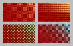 Abstraktes Halbtonpunktmuster-Visitenkartehintergrunddesign stellte - Briefpapiergraphiken mit farbigen Kreisen ein Lizenzfreie Stockbilder