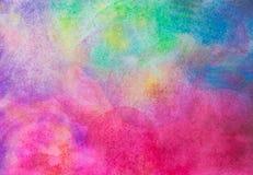 abstraktes handgemaltes Aquarell auf dem Malereipapierhintergrund Lizenzfreie Stockfotos