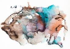 Abstraktes handgemaltes Impressum auf Blatt Papier stockfoto