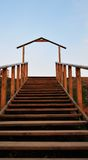 Abstraktes Haus und Treppen Lizenzfreie Stockfotos