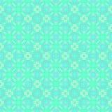 Abstraktes helles cyan-blaues Fliesenmuster Heller Türkis deckte Beschaffenheitshintergrund mit Ziegeln Nahtloser Vektor Lizenzfreie Stockfotos