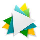 Abstraktes helles Dreiecklogodesign Lizenzfreies Stockfoto