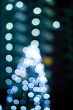 Abstraktes helles glühendes Dekoration Weihnachten, Weiche und Unschärfekonzept Stockbild