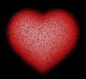 Abstraktes Herz auf Schwarzem Lizenzfreies Stockfoto