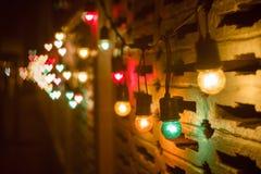 Abstraktes Herz bokeh backround von guten Rutsch ins Neue Jahr- oder Weihnachtsli Stockbilder
