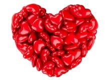 Abstraktes Herz 3d Zu küssen Mann und Frau ungefähr Stockfoto