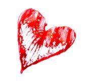 Abstraktes Herz gemacht vom Watercolour-, Liebes- und Gesundheitskonzeptsymbol Stockfotos