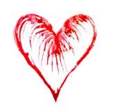 Abstraktes Herz gemacht vom Watercolour-, Liebes- und Gesundheitskonzeptsymbol Stockfoto