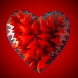 Abstraktes Herz im Rot Lizenzfreies Stockfoto