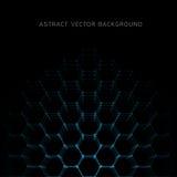 Abstraktes Hexagon formt Hintergrund lizenzfreie abbildung