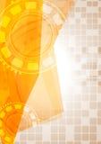 Abstraktes High-Teches gelbes Design Stockfoto