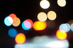 Abstraktes Hintergrund bokeh der Beleuchtung Stockbilder