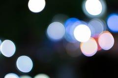 Abstraktes Hintergrund bokeh der Beleuchtung Stockfoto