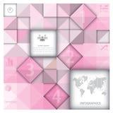 Abstraktes Hintergrund-Geschäft Infographic Lizenzfreie Stockfotos