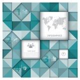 Abstraktes Hintergrund-Geschäft Infographic Lizenzfreie Stockfotografie